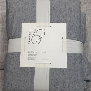 GrayJersey Plush Blanket